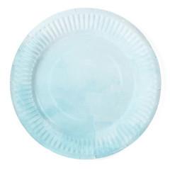 Assiette bleu dégradé