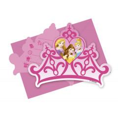 6 invitations avec enveloppes – Princesses Disney