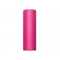 Rouleau de tulle rose - 15 cm x 9 m
