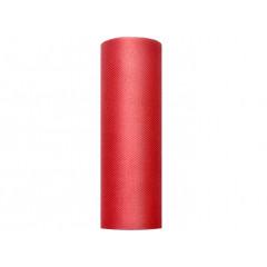 Rouleau de tulle rouge - 15 cm x 9 m