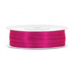 Ruban satin 3 mm - rose néon
