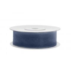 Ruban soie 19 mm - bleu marine
