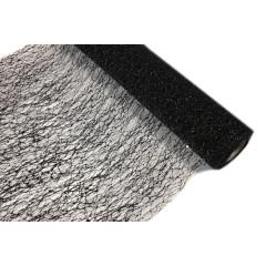 Chemin de table métallisé branchage - noir