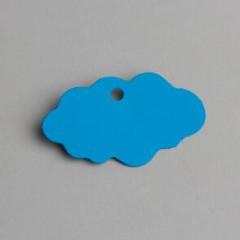 etiquette forme nuage turquoise