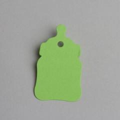 etiquette forme biberon vert anis