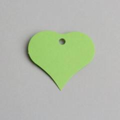 etiquette forme coeur vert anis