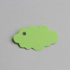 etiquette forme nuage - vert anis