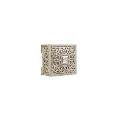 6 boites à dragées carrées argent arabesque
