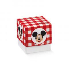 Boite à dragées cube Mickey rouge