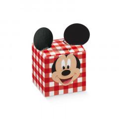 Boite à dragées cube oreille Mickey vichy