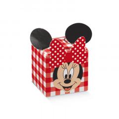 Boite à dragées cube oreille Minnie vichy