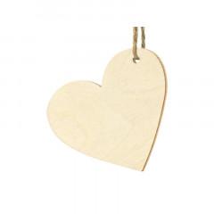 Lot de 10 marques places coeur en bois
