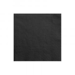 x 20 serviettes en papier noir