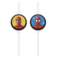 4 Pailles Spiderman