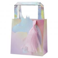 sacs Cadeau Licorne Iridescent x5