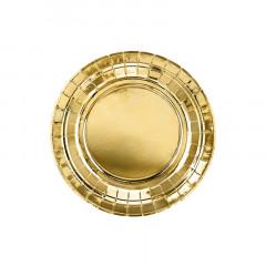 Assiette métallisée dorée x6