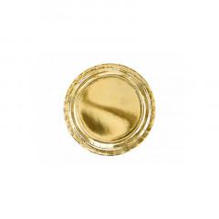 x6 assiettes métallisée or