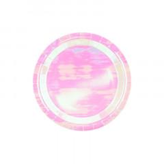 Assiettes rose iridescent x6
