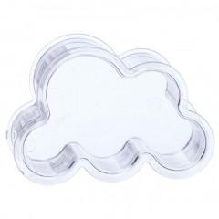 6 x contenant dragées nuage plexi