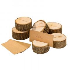 Marque place rondin de bois