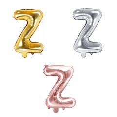 Ballon lettre Z - 36cm - coloris au choix