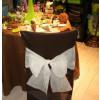Housses de chaises - x10 - chocolat