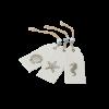 6 étiquettes coquillages en lin - 1