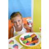 Lot de 10 Assiettes à pois multicolores - carton