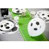 8 ballons blanc thème foot