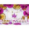 4 cake toppers chateau de princesse
