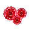 3 rosaces décoratives rouges