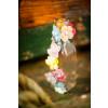 Pinces fleurs vieux rose x6 - 2