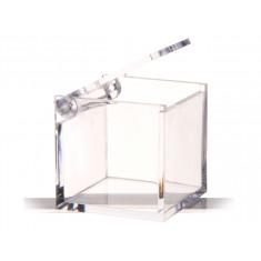 3 x Boite dragees carré plexi 4,5 cm x 4,5 cm