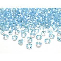 Diamant rond bleu turquoise  x 100 - Ø 1,2 cm