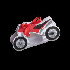 10 Boîtes à dragées moto rouge 7 cm x 13 cm x 3,5 cm