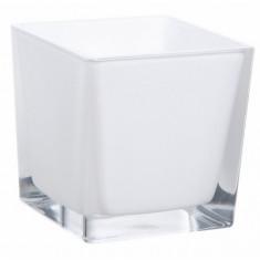 Vase cube blanc – 8 cm