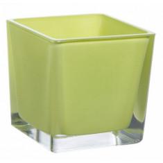 Vase cube anis – 14 cm