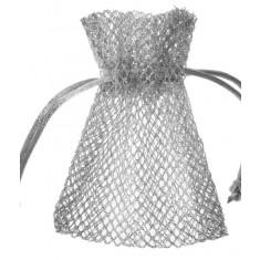 Sachet dragées nid d'abeille x6 - Argent