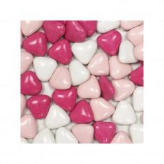 1 kg Dragées cœur chocolat 50% - variation rose