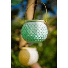 Photophore nid d'abeille vert