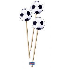 Bâtonnets décoratifs Football - x8
