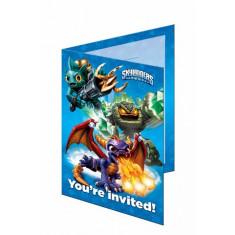 8 invitations Skylanders Giants - bleu
