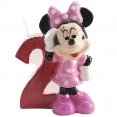 Bougie anniversaire Minnie chiffre 2