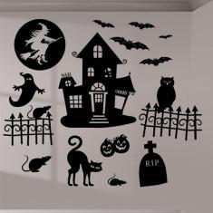 2 planches de stickers Halloween noirs