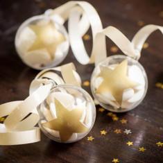 Boule dragées étoile or ou argent x4