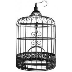 Urne cage oiseau - noire
