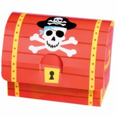 8 Boîtes en carton coffre fort Pirates