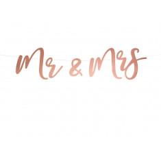 Guirlande Mariage Mr & Mrs rose Gold