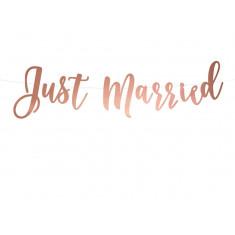 Guirlande Mariage Just Married rose Gold