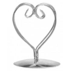 2 Marque places coeur métal - argent